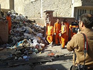 زباله دانی در مرکز شهر - جنب مسجد جامع